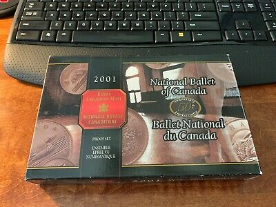 2001 Royal Canadian Mint National Ballet of Canada Proof Set Original Box