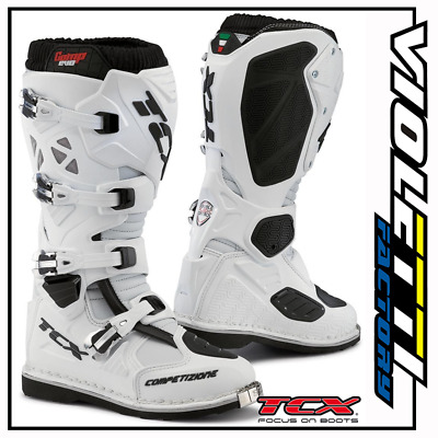 Stivali Tcx 9660 Comp Evo White Enduro Off Road Motocross Bianco