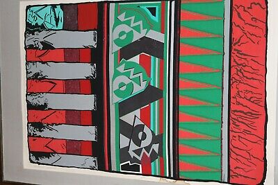 "Serigraph By Dave Faville /""MOUNTAIN CAT/"" 10/"" x 8 1//2/"""