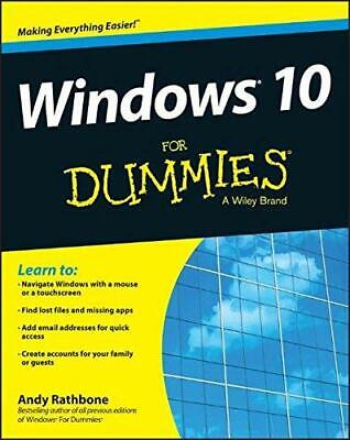 Windows 10 For Dummies (For Dummies (Computers)), Rathbone, Andy, Good Condition