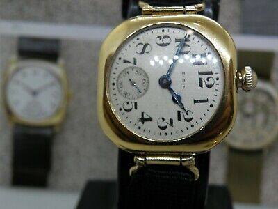 1921 Elgin * Transitional Men`s Driver`s Watch  *.....Near Mint ....Serviced