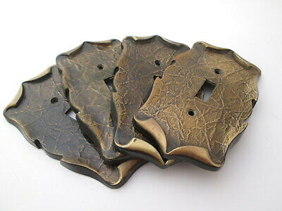 Vintage Metal switchplate cover one toggle Amerock bronze Lot of 4 MCM rustic