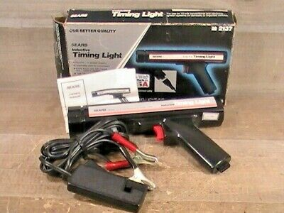 Pre-Owned & Tested Sears #161.2137 12V Inductive Timing Light W/ Manual