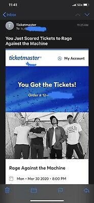 Rage Against The Machine - Reunion Tickets (2) - RATM Tix - Sold Out