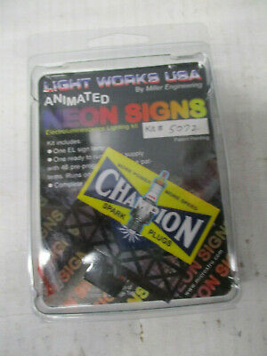 Champion Spark Plugs Animated Billboard Sign #5072 N Scale Miller Engineering