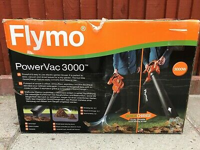 Flymo Power Vac 3000, Blower, Vacuum And Shreds Leaves.