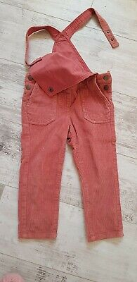 Girls La Redoute Rose Pink Cord Dungarees Age 3 Years Immaculate