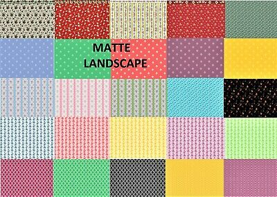 Dolls House Wallpaper 180gsm Matte Photo Paper 1//12th SCALE Red Arch Design