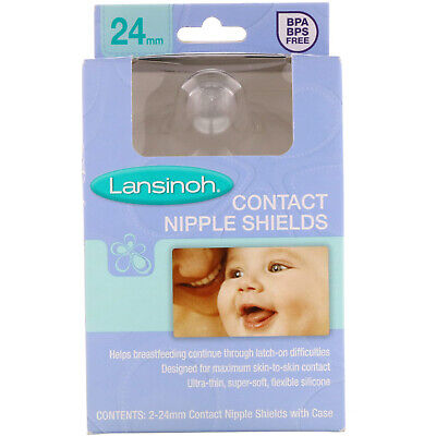 Contact Nipple Shields with Case, 2 Pack 2-24 mm