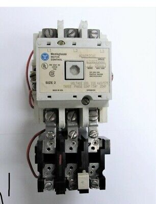 Westinghouse A200M2CAC J Size 2 3-phase Motor Control Cutler Hammer Starter