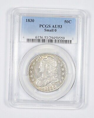 AU53 1830 Capped Bust Half Dollar - Small 0 - Graded PCGS *8578