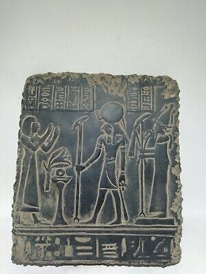 RARE ANCIENT EGYPTIAN ANTIQUE NEFERTARI and Horus Stela Stella 1520-1325 BC
