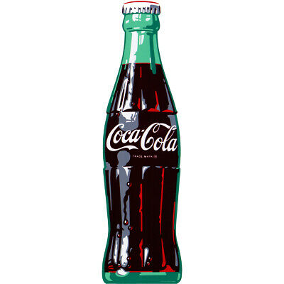 Coca-Cola Ice Cold 1960s Style Bottle Decal 7 x 24 Coke Kitchen Wall Decor