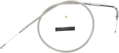 Drag Specialties - 0651-0122 Alternative Length Braided Idle Cable Cable