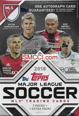 2018 Topps MLS Soccer Unopened Factory Blaster Box One GUARANTEED Autograph Card