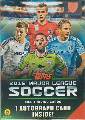 2016 Topps MLS Soccer Unopened Factory Blaster Box One GUARANTEED Autograph Card