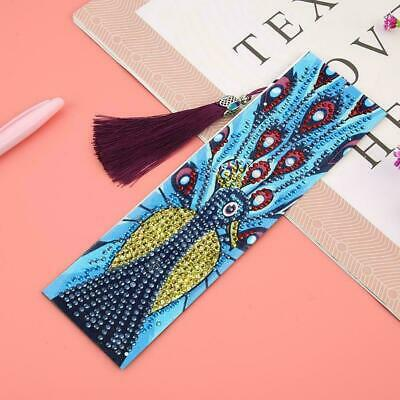 DIY Special Shaped Diamond Painting Leather Bookmark KIts Marks Tassel Gift T0K3