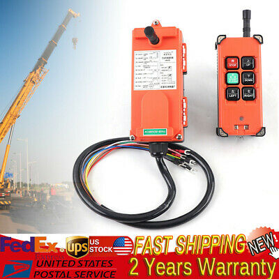 6Key Crane Industrial Remote Control Wireless Transmitter Push Button Switch HOT