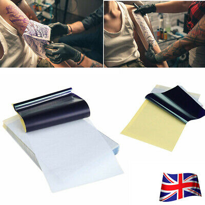 5~50x Tattoo Transfer Paper Stencil Carbon Thermal Tracing Hectograph A4 UK NEW