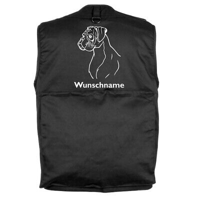 MIL-TEC Hundesport Outdoor Weste Boxer inkl. Wunschname