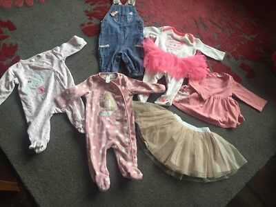 Baby Girl Clothes 3-6 Months Bundle Jumpsuits Skirt Romper Next Tu And Others!