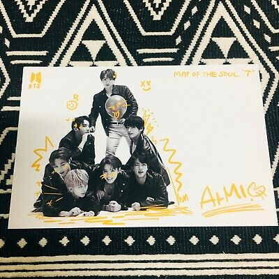 BTS Postcard MAP OF THE SOUL: 7 Official Sealed New All Member Signature