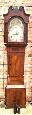 Antique Georgian Oak  Mahogany Longcase Grandfather Clock S Brill Birmingham