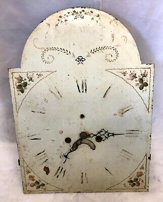 Antique 8 DAY Longcase Grandfather Clock Dial & Movement JOSEPH MACK HOLT