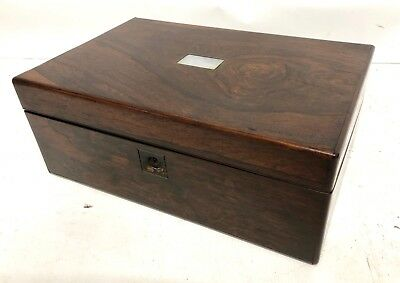Antique Rosewood & Mother of Pearl Inlaid Writing Box / Slope for Restoration