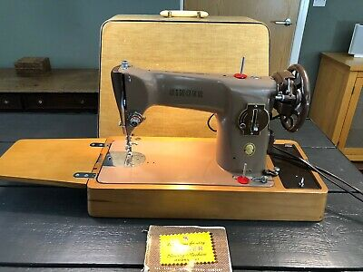 Semi-Industrial Singer 201K Electric Sewing Machine, sews LEATHER