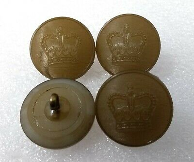 Genuine Vintage British Military Issue St Edwards Crown Khaki Buff Buttons 40L