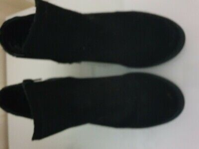 Girls black boots size 2