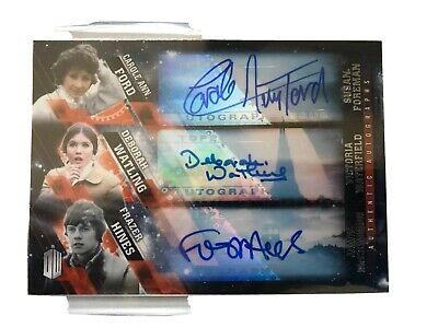 Topps Doctor Who Timeless Triple Autograph Ford, Watling, Hines Ultra Rare!!