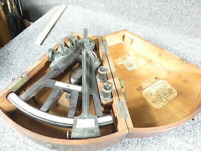 Antique sextant  J.Rosell,   ebony--Original Box with makers's  labels