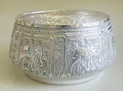 Rare Asian Sterling solid silver bowl ,hallmarked