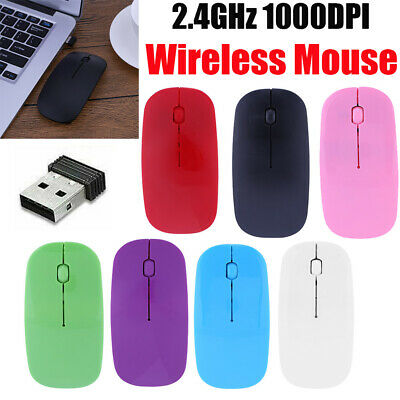 2.4GHz Wireless Cordless Mouse Mice Optical Scroll For PC Laptop Computer+USB UK