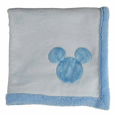 Disney Mickey Mouse Double Sided Infant Blanket, Printed Shimmer on Sherpa back