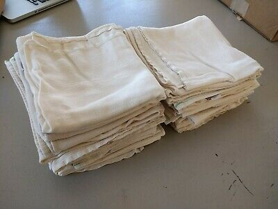 Lot of 12 Cloth-eez Green Mountain Flat Diapers LARGE Unbleached