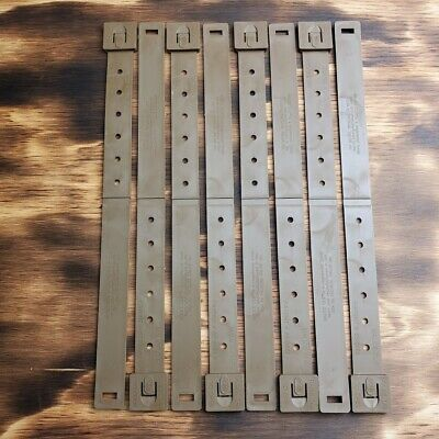 Lot of 8 Tactical Tailor Coyote Brown Long Malice Clips 8 Pack OTW Loops MOLLE