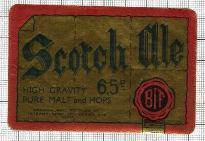 MOROCCO International Breweries,Tangier SCOTCH ALE beer label C2115 089