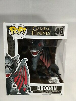Funko Pop! Game of Thrones Drogon #46 Red Eyes Hot Topic Exclusive ~NIB~6 Inch
