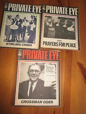 3 x Private Eye Magazine from 1972