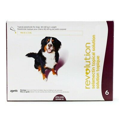 Flea & Tick control for dogs (40.1-60kg) 6 doses/box (6 months) exp: 03/22