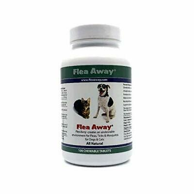 Flea Away Chewable Flea and Tick for Dogs Cats All Natural Repellent 100 Capsule