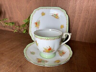 VINTAGE BELL  POTTERY FINE CHINA TEA TRIO, Tea Cup, Saucer and Side Plate