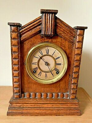 Antique Ansonia New York Striking Mantel Clock Spares or Repair c1900