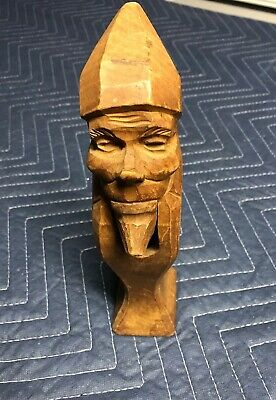 Vintage Antique Wood Carved Nutcracker Wooden Figure ELF DWARF GNOME LEPRECHAUN