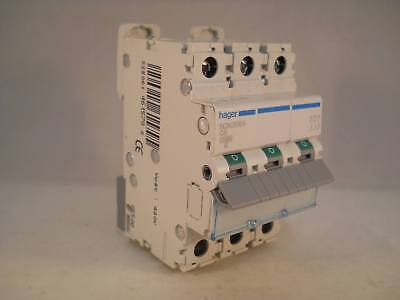 Hager MCB 6 Amp Triple Pole 3 Phase Circuit Breaker Type C 6A NCN306A NEW