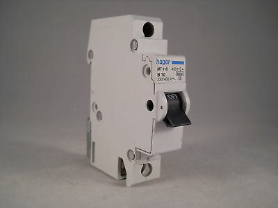 Hager MCB 10 Amp Single Pole Circuit Breaker Type B 10A B10 450110 MT110