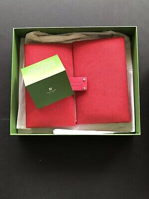 Kate Spade New York Red Planner Agenda Contacts Address Book Canvas And Leather